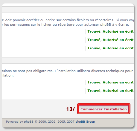 installer phpBB3 en local avec UwAmp - capture écran 11